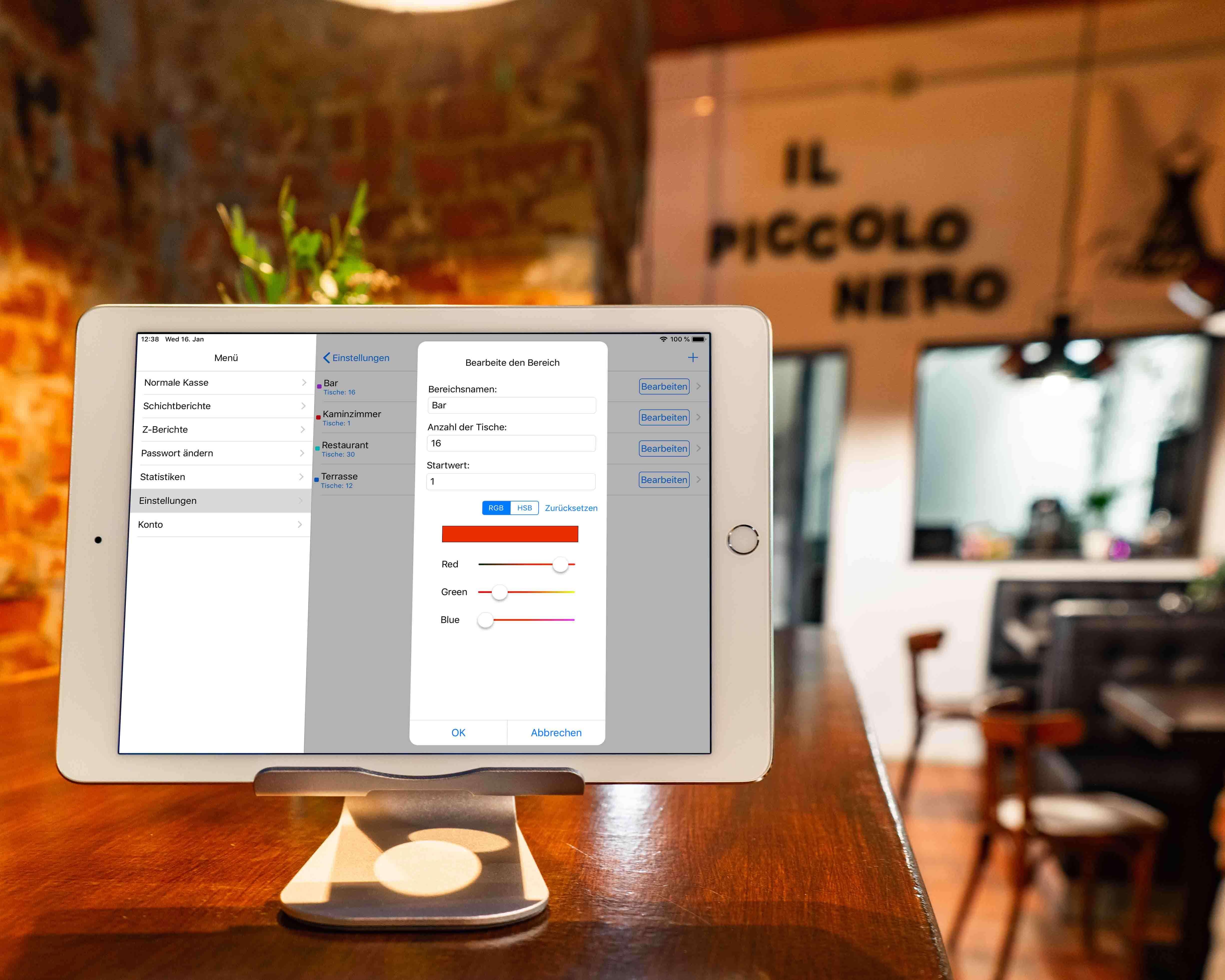 Mit Qwento verschiedene Bereiche in Deinem Restaurant erstellen